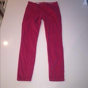 Gap pink corduroy Pants legging jean skinny 28 6